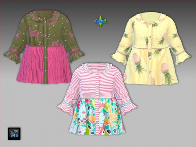 Sims 4 Shirt and headband for toddler girls by Mabra at Arte Della Vita
