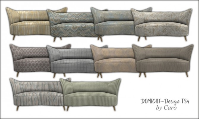 Sims 4 Loveseat, console, plate, curtains & paintings at DOMICILE Design TS4