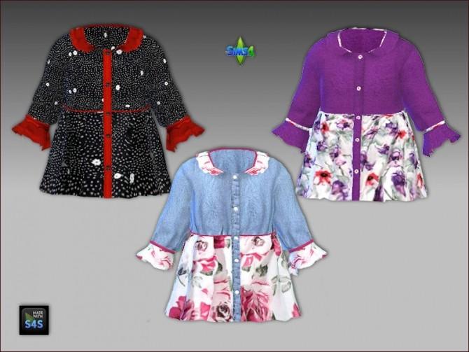 Shirt and headband for toddler girls by Mabra at Arte Della Vita image 9718 670x503 Sims 4 Updates