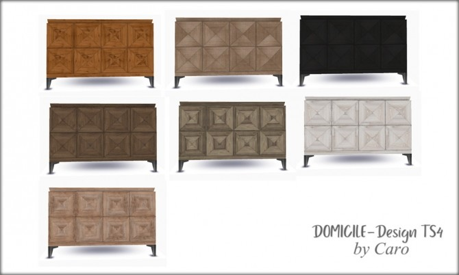 Loveseat, console, plate, curtains & paintings at DOMICILE Design TS4 image 9723 670x402 Sims 4 Updates