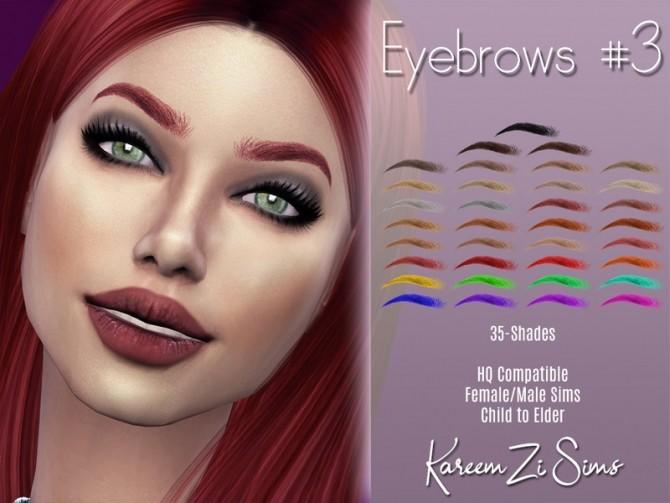Sims 4 Eyebrows #3 by KareemZiSims at TSR