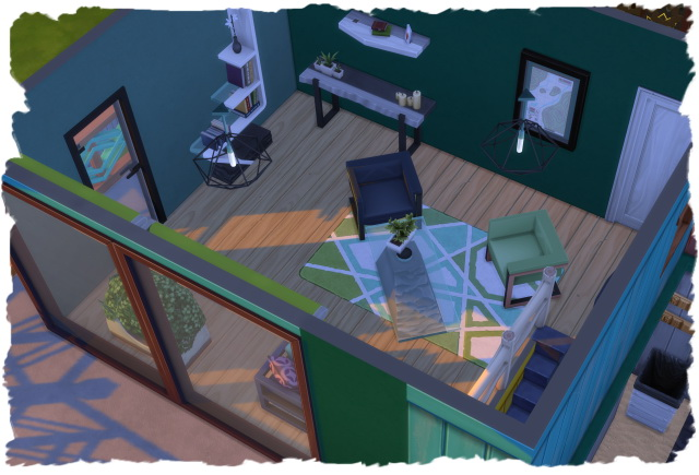 Sims 4 Colorful wooden house by Chalipo at All 4 Sims
