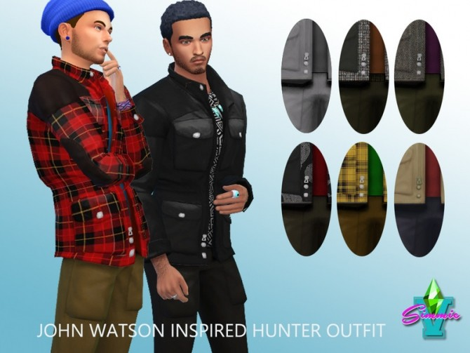 Sims 4 John Watson Hunting Outfit by SimmieV at TSR
