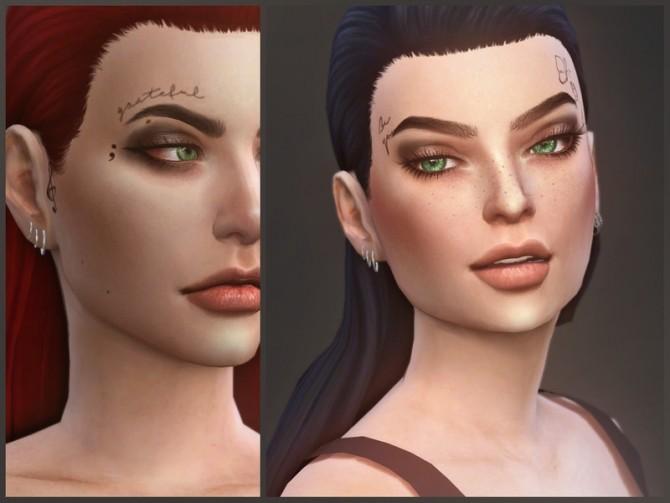 Sims 4 Grl Pwr face tattoos by sugar owl at TSR
