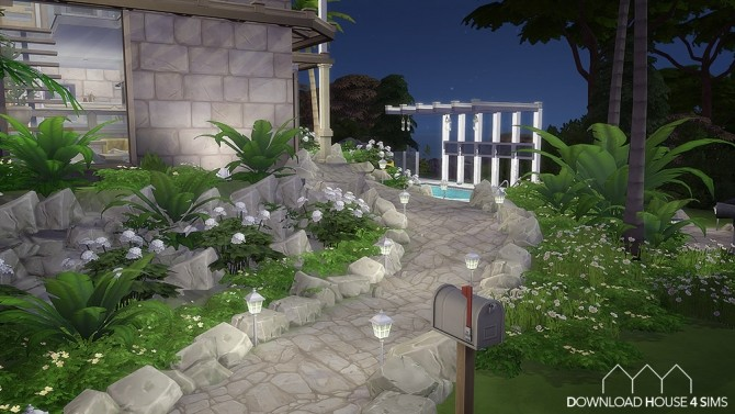 Sims 4 Coconut palms house at DH4S