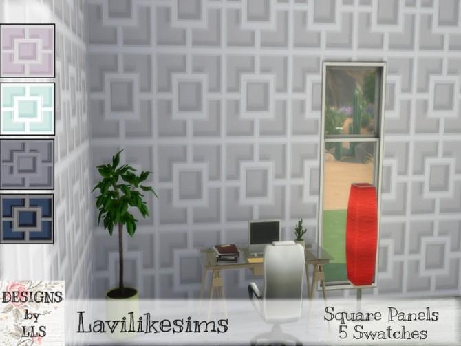 Sims 4 Square Panels by lavilikesims at TSR