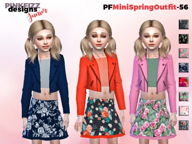 Sims 4 Mini Spring Outfit PF56 by Pinkfizzzzz at TSR