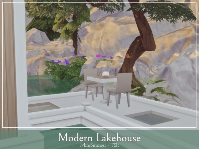 Modern Lake house by Mini Simmer at TSR image 1040 670x503 Sims 4 Updates