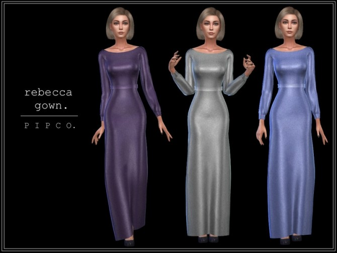 Sims 4 Rebecca gown by Pipco at TSR