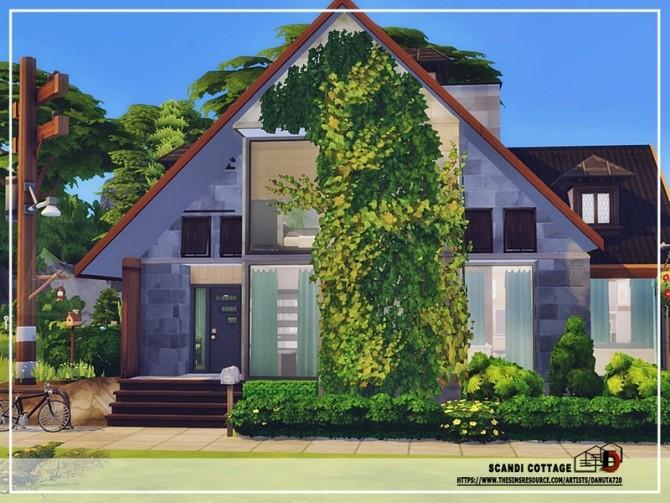 Sims 4 Scandi cottage by Danuta720 at TSR