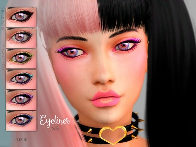 Sims 4 Eyeliner N5 by Suzue at TSR