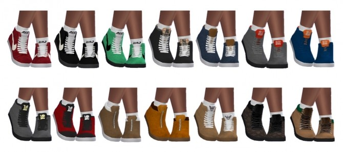 Sims 4 BG Designer High Tops (M) SIMLISH at Sims4Sue