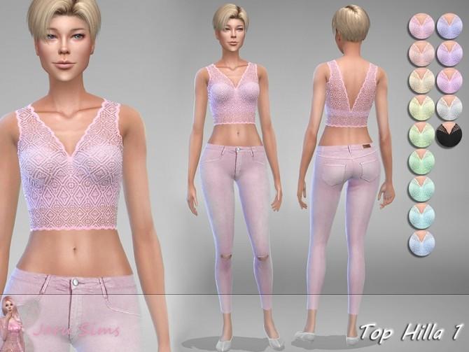 Sims 4 Top Hilla 1 by Jaru Sims at TSR