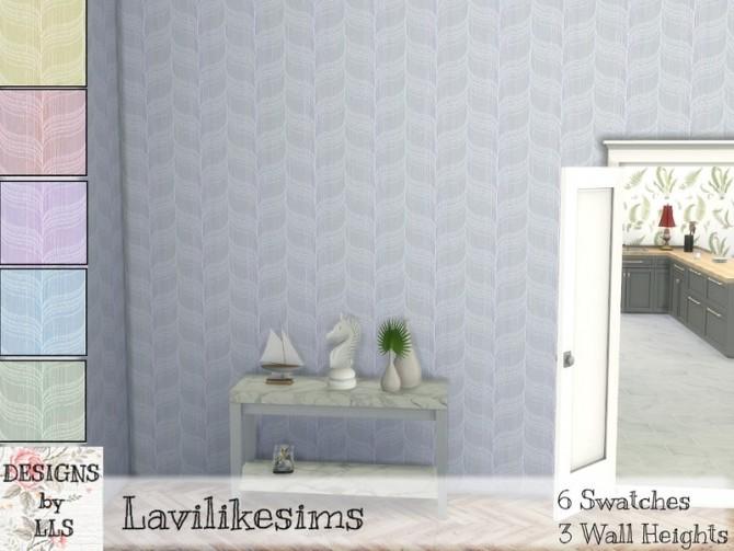 Sims 4 Portofino Waves walls by lavilikesims at TSR