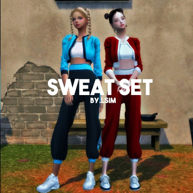 Sims 4 SWEAT Set at L.Sim