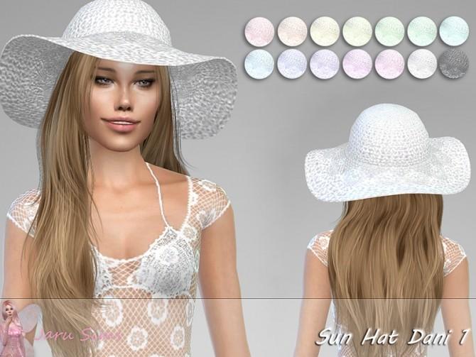 Sims 4 Sun Hat Dani 1 by Jaru Sims at TSR