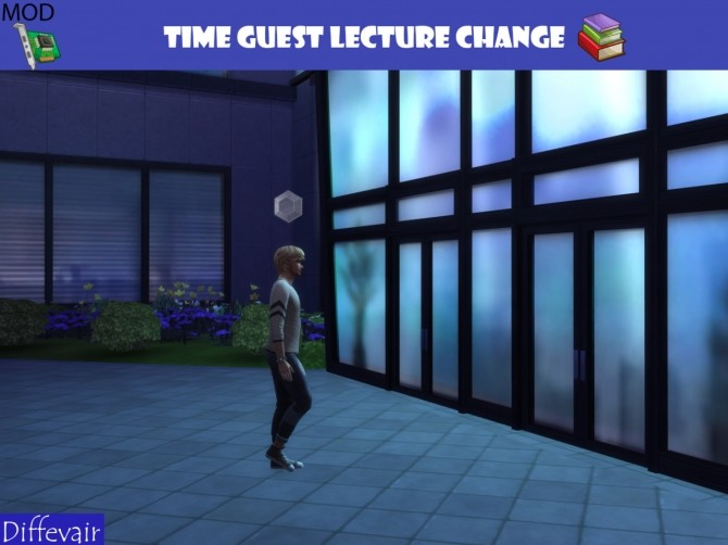 Sims 4 Time change for guest lecture at Diffevair – Sims 4 Mods