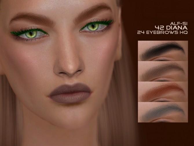 Sims 4 Eyebrows 42 Diana HQ at Alf si