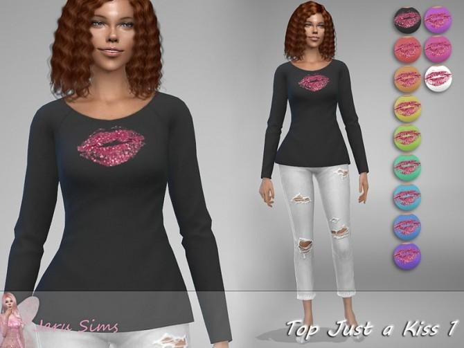 Sims 4 Top Just a Kiss 1 by Jaru Sims at TSR