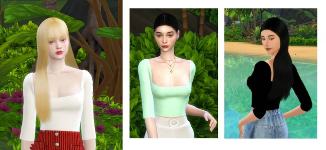 SQUARE NECK TOP at THKM16 image 10921 670x309 Sims 4 Updates