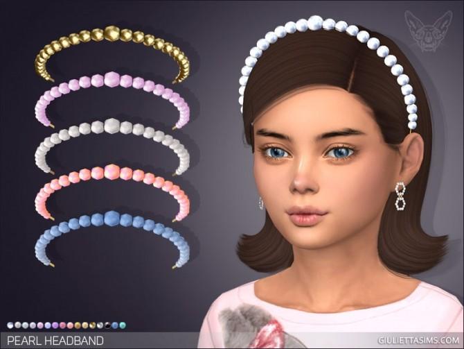 Sims 4 Pearl Headband For Kids at Giulietta