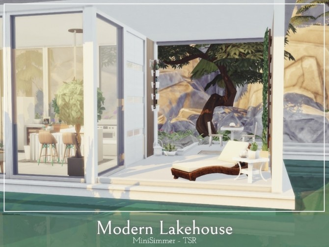 Modern Lake house by Mini Simmer at TSR image 11102 670x503 Sims 4 Updates