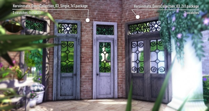 Sims 4 Doors Collection 03 at Haruinosato's CC