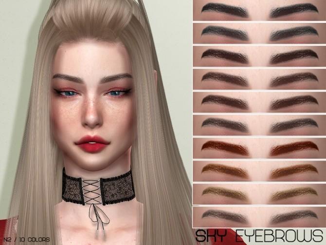 Sims 4 LMCS Sky Eyebrows N2 by Lisaminicatsims at TSR