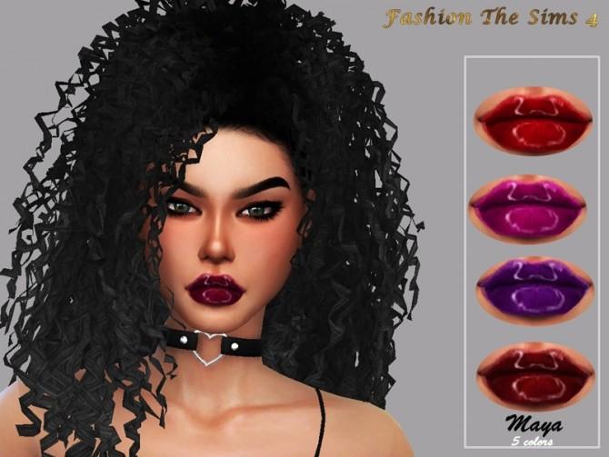 Sims 4 Maya gloss lipstick by LYLLYAN at TSR