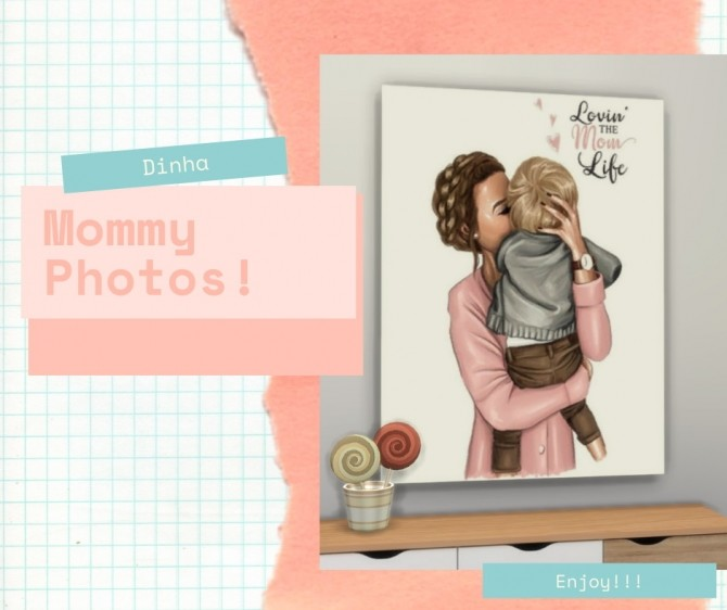 Sims 4 Mommy Photos at Dinha Gamer