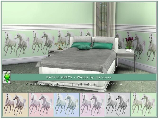 Sims 4 Dapple Greys walls by marcorse at TSR