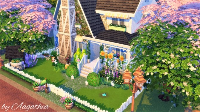 Sims 4 Cottage with Easter Vibe at Agathea k