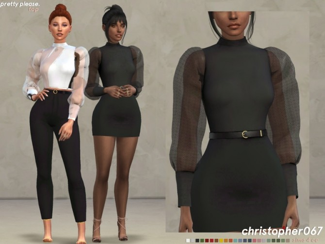 Pretty Please Top by Christopher067 at TSR image 114 670x503 Sims 4 Updates