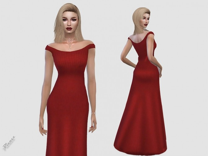 Sims 4 Spring Dress Off Shoulders by pizazz at TSR
