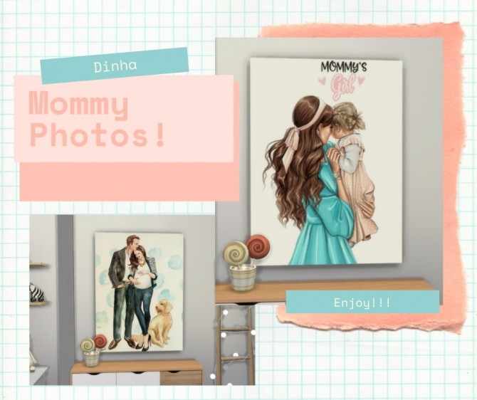 Mommy Photos at Dinha Gamer image 11413 670x562 Sims 4 Updates