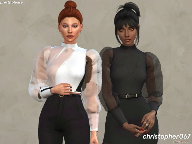 Pretty Please Top by Christopher067 at TSR image 115 670x503 Sims 4 Updates