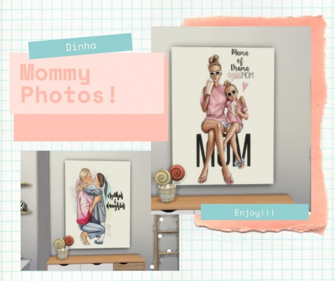 Mommy Photos at Dinha Gamer image 11513 670x562 Sims 4 Updates
