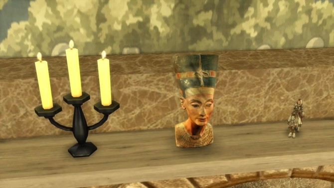 Sims 4 Nefertiti bust by Alikis Nook at Sims 4 Studio