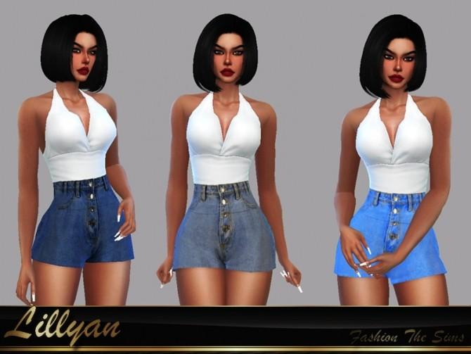 Sims 4 Short Jeans Telma by LYLLYAN at TSR