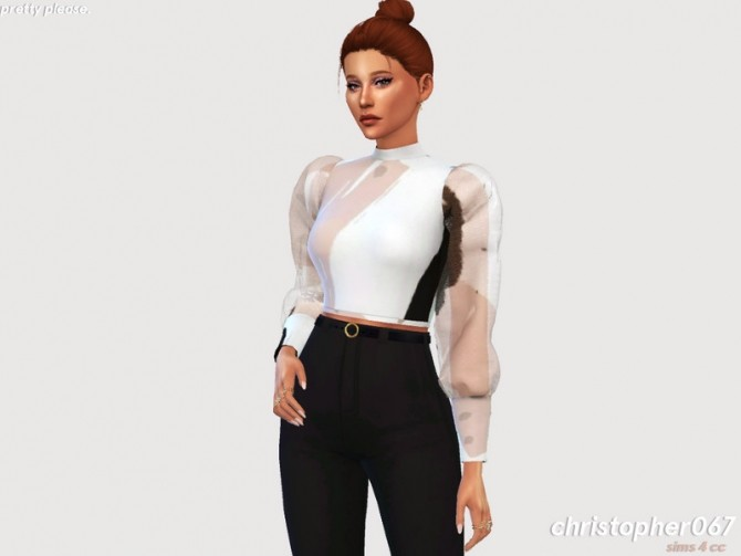 Pretty Please Top by Christopher067 at TSR image 116 670x503 Sims 4 Updates