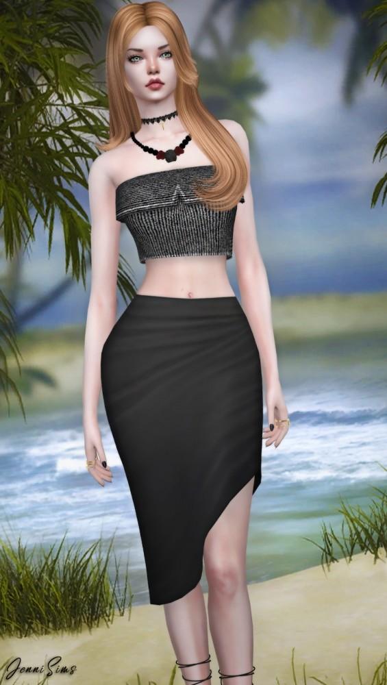 Sims 4 BGC Tube Top at Jenni Sims