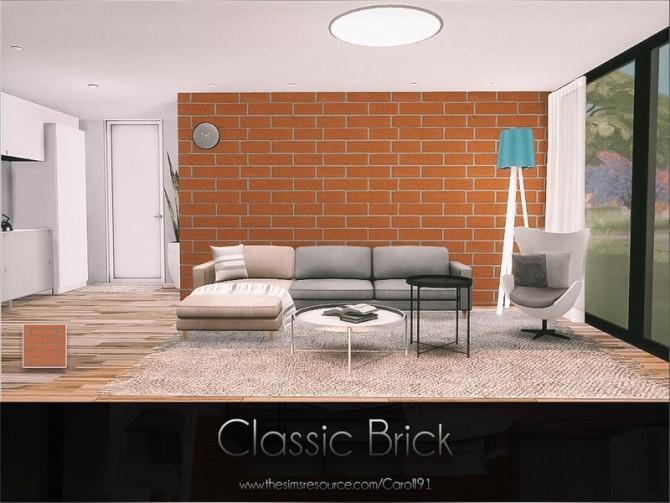 Sims 4 Classic Brick wall by Caroll91 at TSR