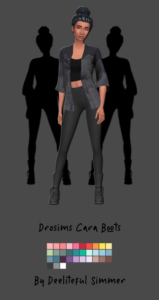 Sims 4 Drosims Cara boots at Deeliteful Simmer