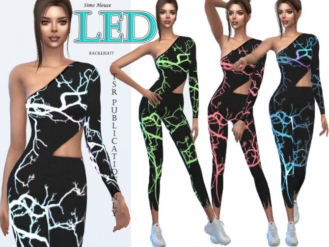 Womens suit for fitness LED backlight by Sims House at TSR image 12019 670x503 Sims 4 Updates