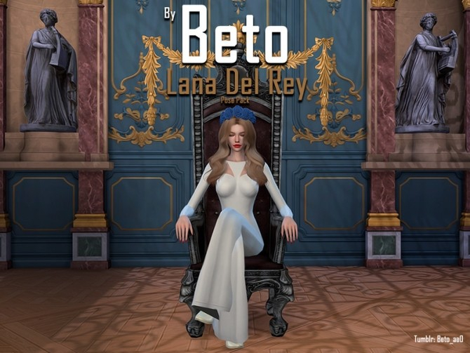 Sims 4 Lana del Rey Pose Pack by Beto ae0 at TSR