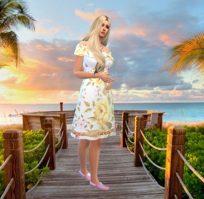 Sims 4 BGC dress recolors at Louisa Creations4Sims