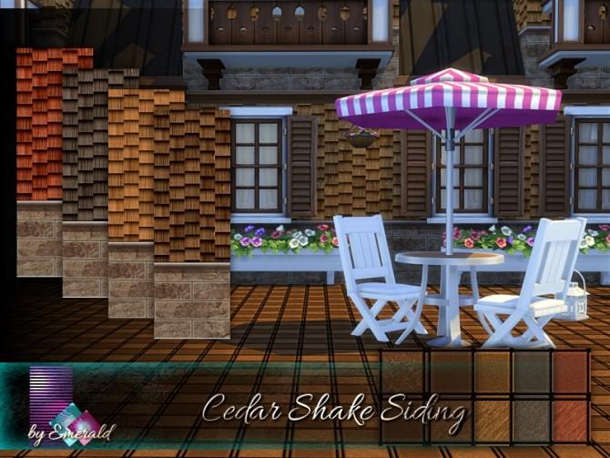 Sims 4 Cedar Shake Siding by emerald at TSR