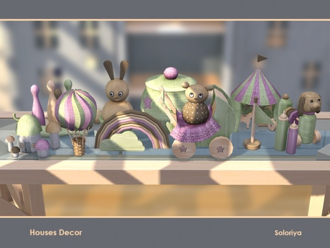 Sims 4 Houses Decor by soloriya at TSR