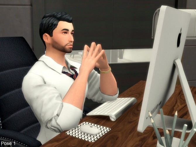 Sims 4 Office Pose Pack by Beto ae0 at TSR