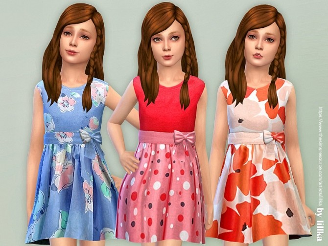 Sims 4 Girls Dresses Collection P139 by lillka at TSR